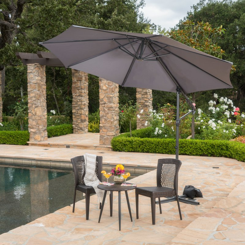 Jaelynn 9.5' Cantilever Umbrella within Preferred Jaelynn Cantilever Umbrellas