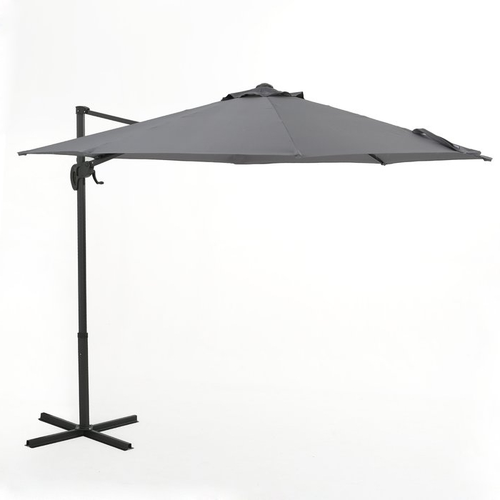 Jaelynn Cantilever Umbrellas In Famous Jaelynn 9.5' Cantilever Umbrella (Gallery 20 of 25)