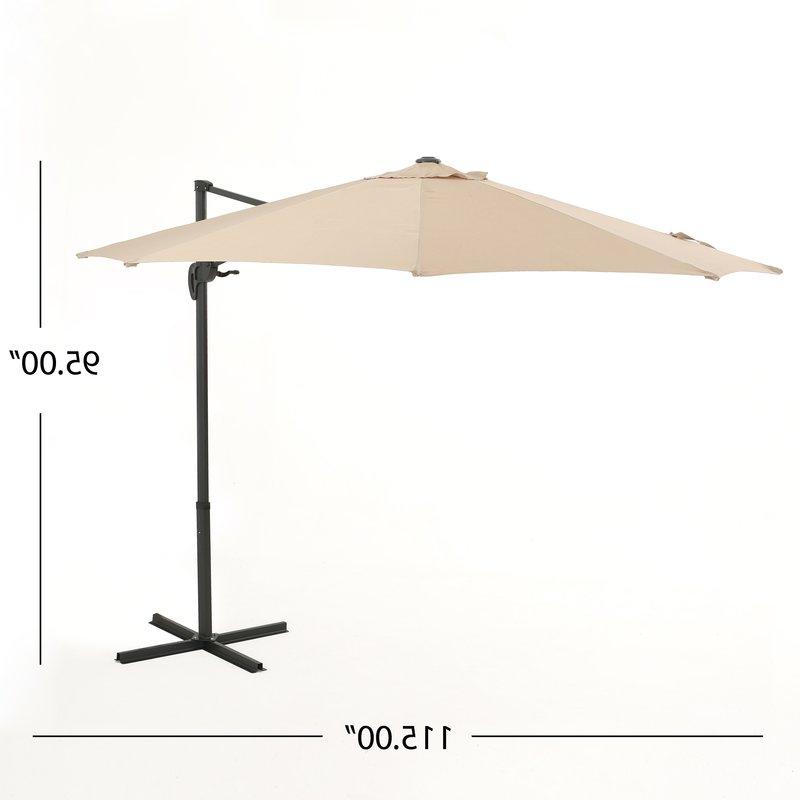 Jaelynn Cantilever Umbrellas Pertaining To Well Known Jaelynn 9.5' Cantilever Umbrella (Gallery 15 of 25)