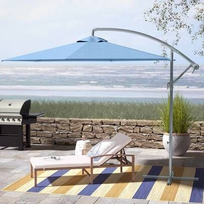 Jaelynn Cantilever Umbrellas Throughout Well Liked Astella 11 Ft. Aluminum Market Crank Lift Patio Umbrella In (Gallery 25 of 25)