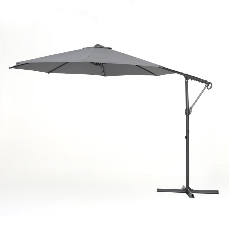 Jaelynn Cantilever Umbrellas with Most Current Jaelynn 9.5' Cantilever Umbrella