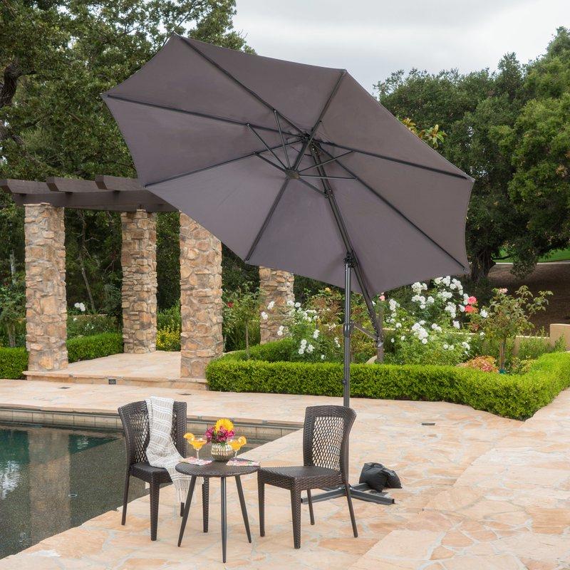 Jaelynn Cantilever Umbrellas With Regard To Trendy Jaelynn  (View 2 of 25)