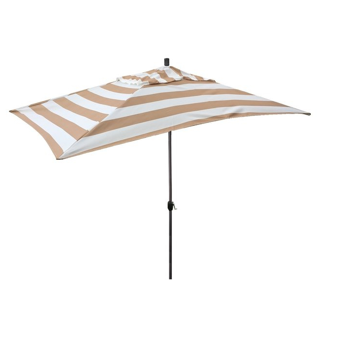 Jalynn 10' X 6' Rectangular Market Umbrella inside Latest Sherlyn Rectangular Market Umbrellas