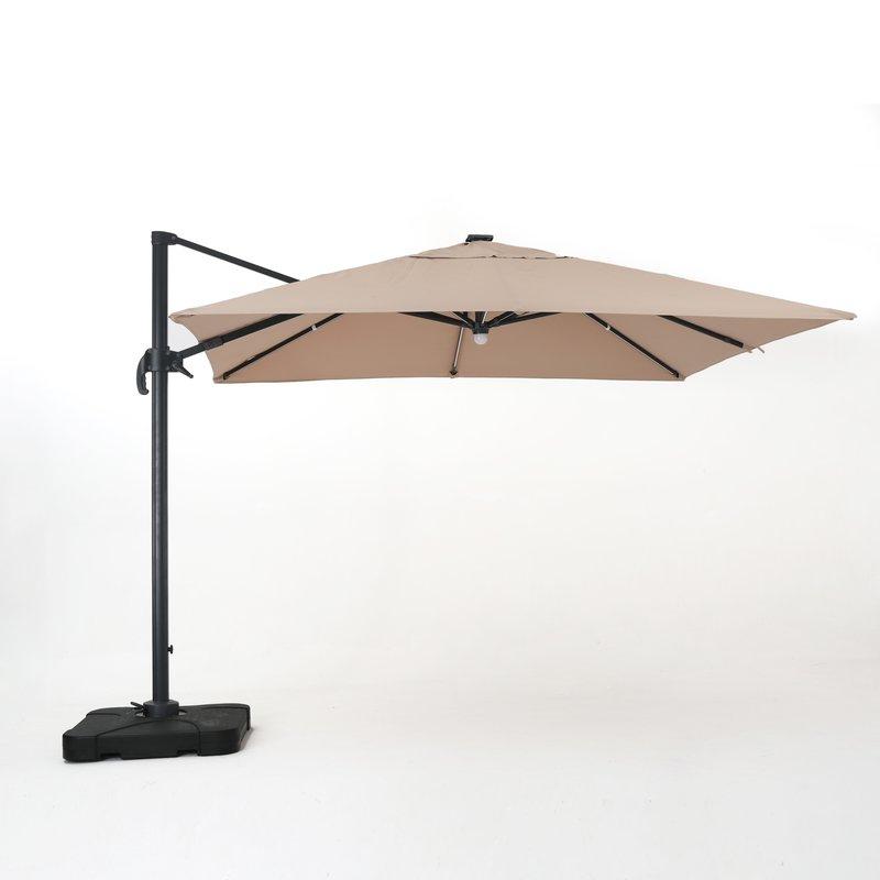 Jendayi Square Cantilever Umbrella Regarding Trendy Bondi Square Cantilever Umbrellas (Gallery 8 of 25)