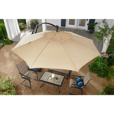 Jendayi Square Cantilever Umbrella With Well Known Jendayi Square Cantilever Umbrellas (Gallery 15 of 25)