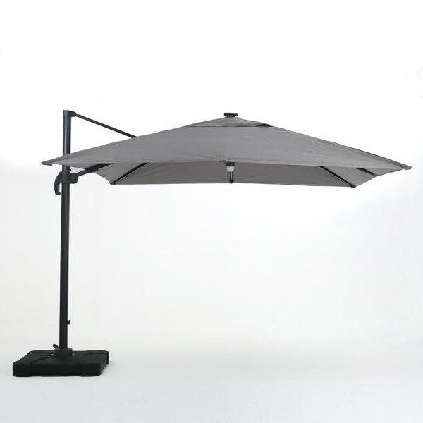 Jendayi Square Cantilever Umbrella Within Trendy Gemmenne Square Cantilever Umbrellas (View 9 of 25)