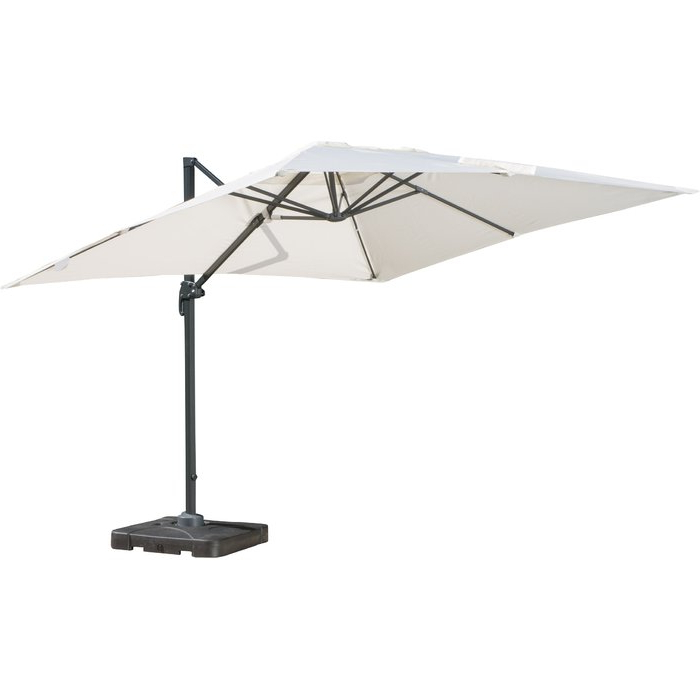 Jendayi Square Cantilever Umbrellas throughout Most Recent Boracay 10' Square Cantilever Umbrella