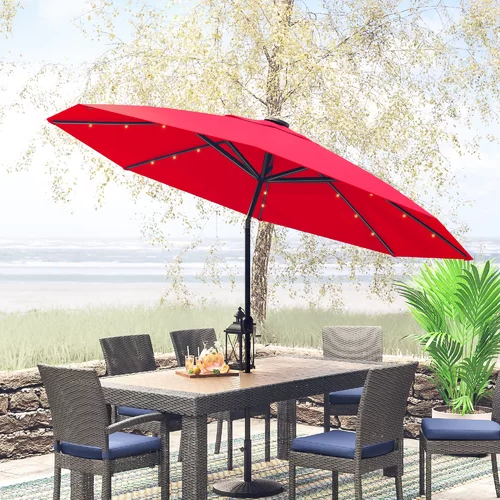 Jericho 9' Market Umbrella Pertaining To 2017 Gribble Cantilever Umbrellas (View 15 of 25)