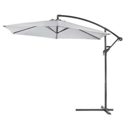 Jericho Market Umbrellas With Regard To Recent 10 Ft. Aluminum Outdoor Hanging Market Patio Umbrella In Dark Grey (Gallery 25 of 25)