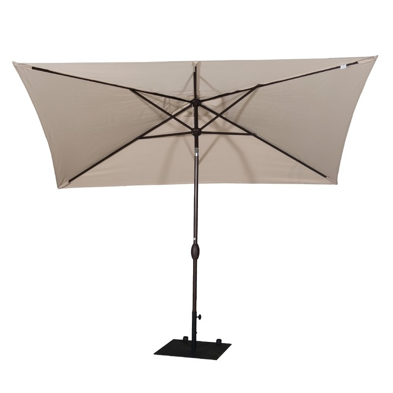 Jerrell 10' X 7' Rectangular Market Umbrella Throughout Latest Jerrell Rectangular Market Umbrellas (Gallery 5 of 25)
