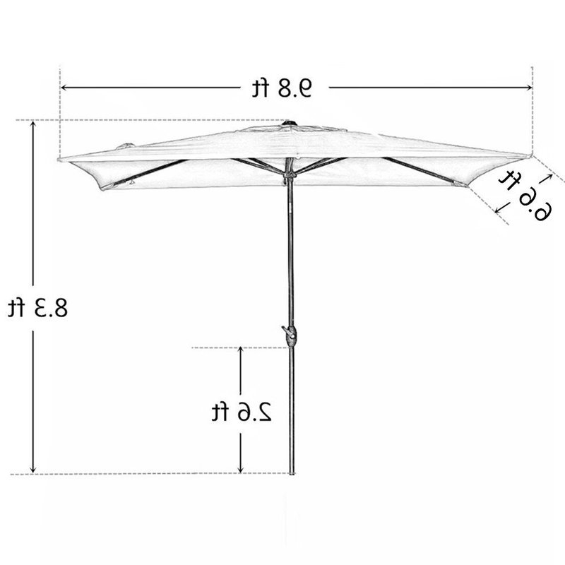Jerrell Rectangular Market Umbrellas For 2018 Jerrell 10' X 7' Rectangular Market Umbrella (Gallery 9 of 25)