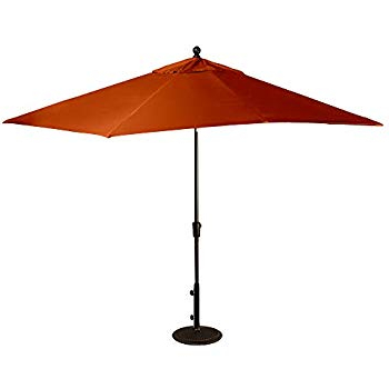 Jerrell Rectangular Market Umbrellas Regarding Favorite Amazon : Adriatic 6.5 Ft X 10 Ft Rectangular Market Umbrella In (Gallery 15 of 25)