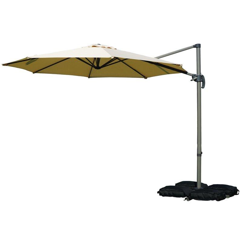 Judah Cantilever Umbrellas With Popular Tottenham Patio Hanging Offset 10' Cantilever Umbrella (View 6 of 25)