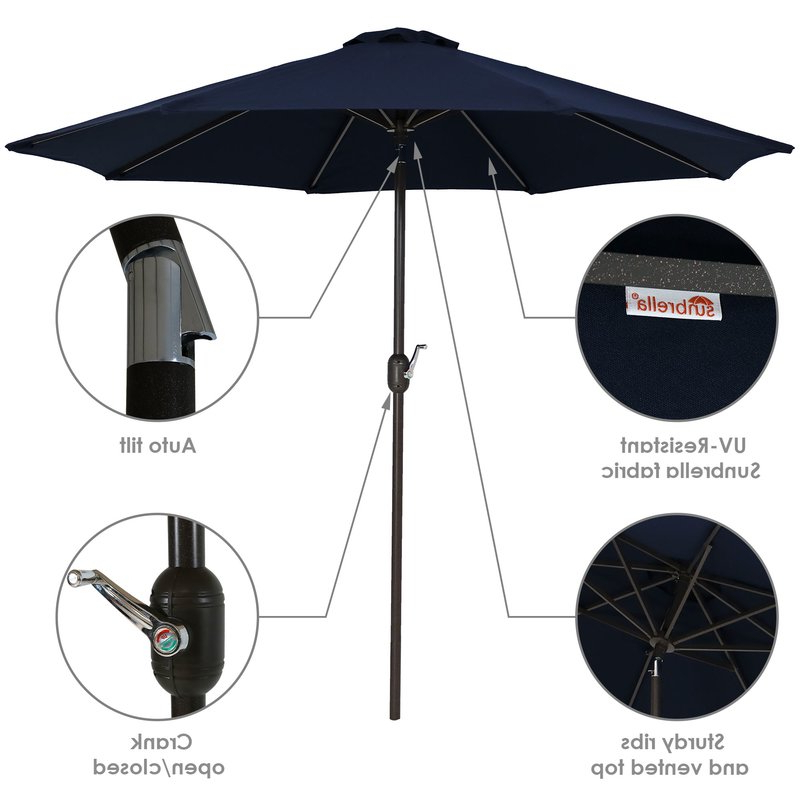 Julian Market Sunbrella Umbrellas Inside Latest Julian 9' Market Sunbrella Umbrella (View 2 of 25)