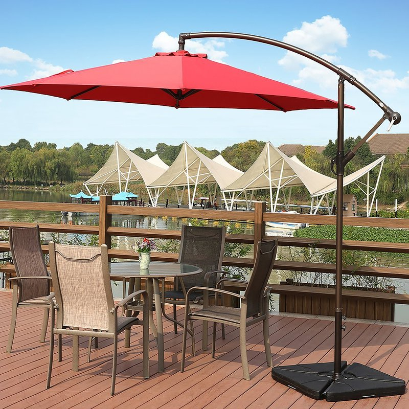 Karr 10' Cantilever Umbrella Intended For Most Recent Alyssa Cantilever Umbrellas (View 16 of 25)