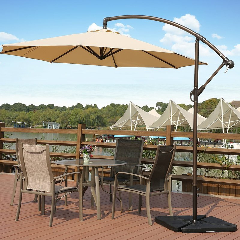 Karr 10' Cantilever Umbrella within Newest Muhammad Fullerton Cantilever Umbrellas