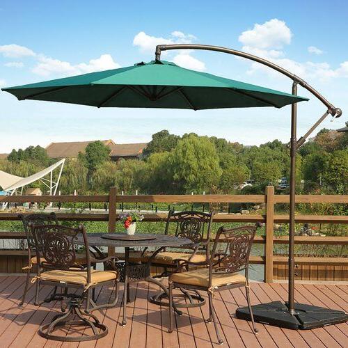 Karr Cantilever Umbrellas Intended For Preferred Karr 10' Cantilever Umbrella (View 6 of 25)
