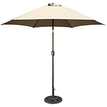 Kearney Market Umbrellas Throughout Well Known Amazon : Tropishade 9 Ft Bronze Aluminum Patio Umbrella With (View 2 of 25)