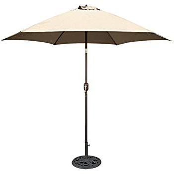 Kearney Market Umbrellas Throughout Well Known Amazon : Tropishade 9 Ft Bronze Aluminum Patio Umbrella With (View 2 of 25)