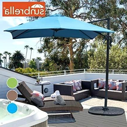 Kedzie Outdoor Cantilever Umbrellas with Most Up-to-Date 11 Cantilever Umbrella Sunbrella Fabric - Tile Design Ideas