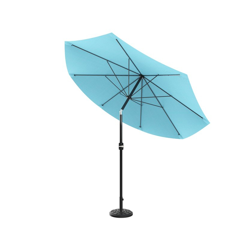 Kelton 10' Market Umbrella Intended For Well Known Woll Lighted Market Umbrellas (View 21 of 25)