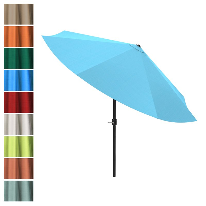 Kelton 10' Market Umbrella Pertaining To Widely Used Kelton Market Umbrellas (View 10 of 25)