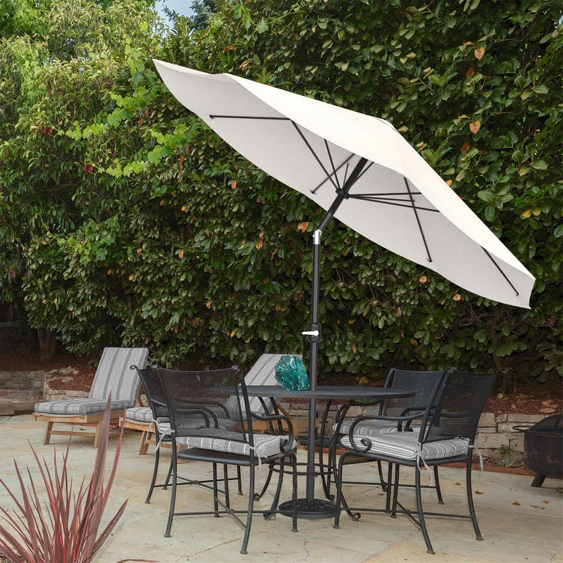 Kelton 10' Market Umbrella Within Current Mucci Madilyn Market Sunbrella Umbrellas (View 6 of 25)