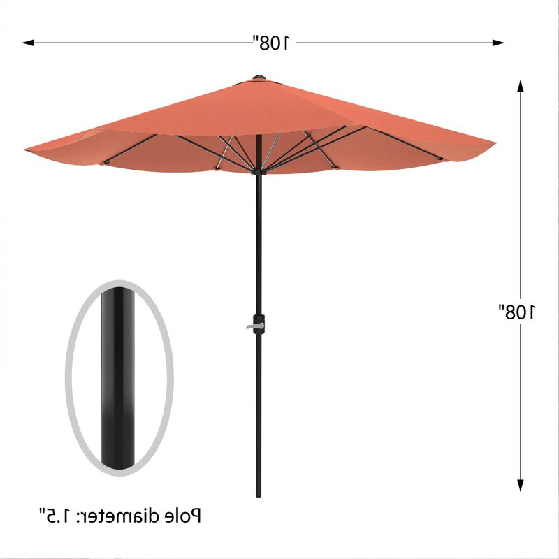 Kelton 9' Market Umbrella Throughout Trendy Kelton Market Umbrellas (View 5 of 25)