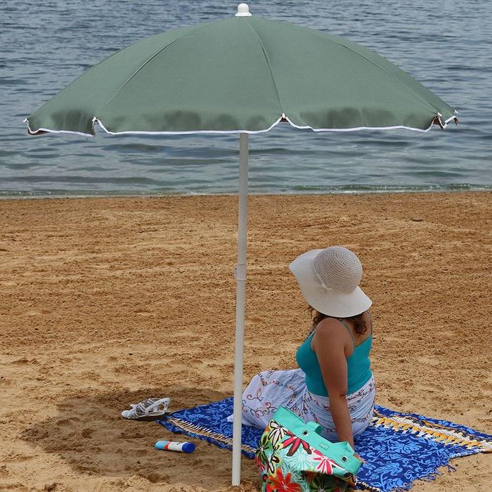 Kerner Steel 5.5' Beach Umbrella with regard to Well-liked Kerner Steel Beach Umbrellas