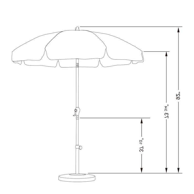 Kerner Steel Beach Umbrellas Throughout Recent 7.5' Market Umbrella (Gallery 21 of 25)