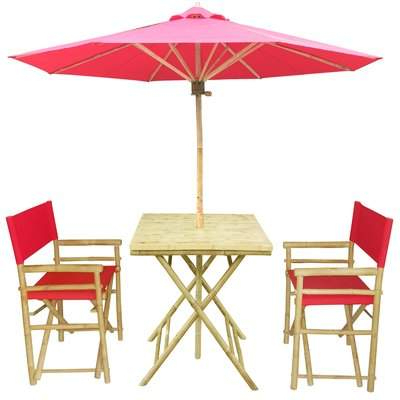 Kerner Steel Beach Umbrellas With Most Current Bay Isle Home Sinta 3 Piece Bistro Set With Umbrella Bay Isle Home (View 19 of 25)