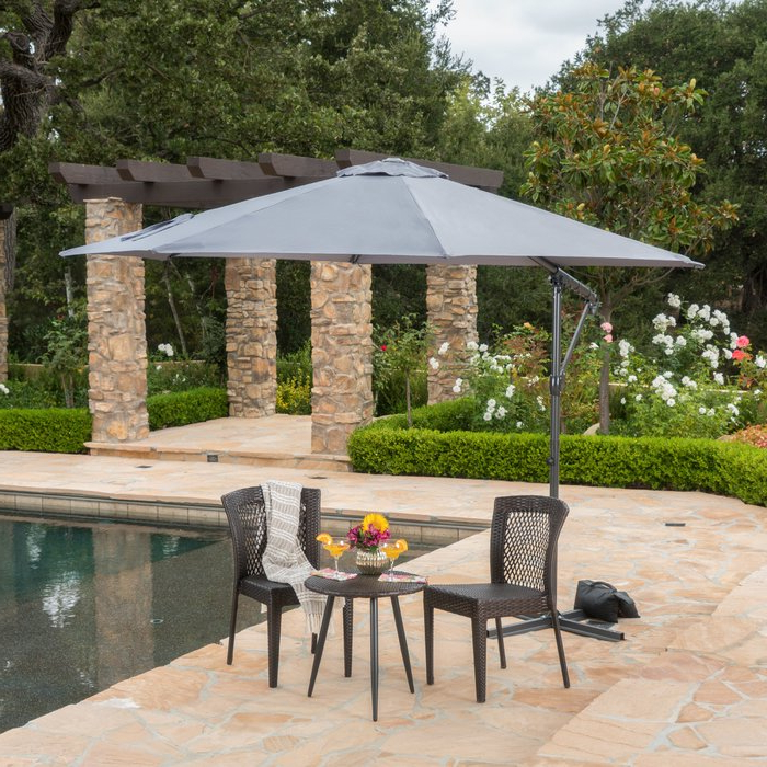 Ketcham Cantilever Umbrellas With Regard To Most Recent Jaelynn  (View 17 of 25)
