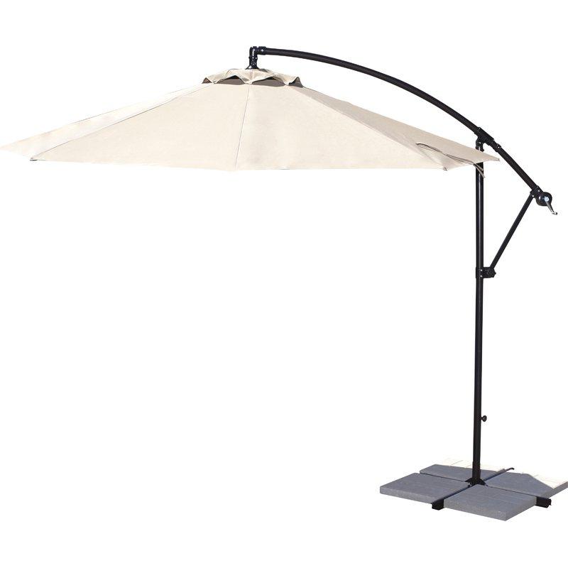 Ketcham Cantilever Umbrellas within Recent Ketcham 10' Cantilever Umbrella