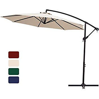 Kizzie Market Cantilever Umbrellas Regarding Well Liked Amazon : Kingyes 10Ft Patio Offset Cantilever Umbrella Market (View 14 of 25)