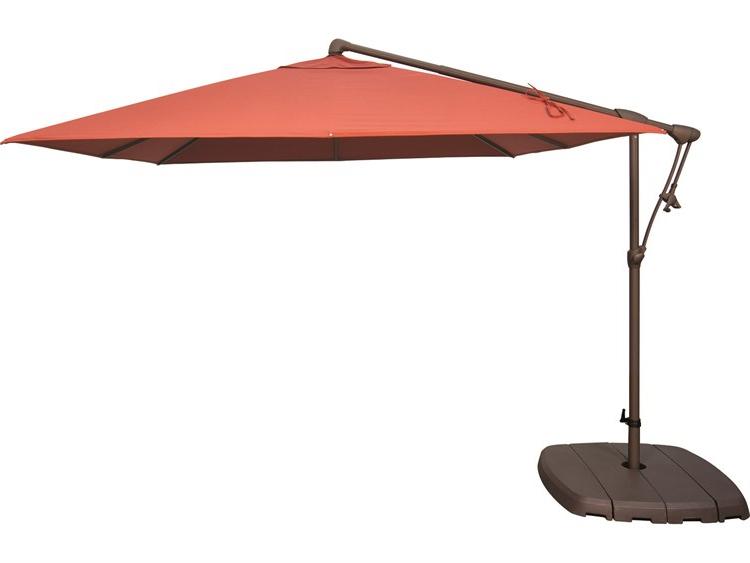 Krystal Square Cantilever Sunbrella Umbrellas With Regard To 2018 Treasure Garden Cantilever Ag19Sq Aluminum 8.5 Foot Wide Square Cantilever  Umbrella (Gallery 23 of 25)