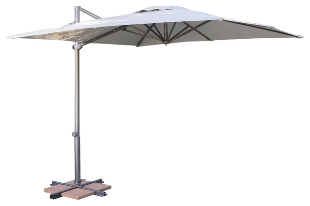 Krystal Square Cantilever Sunbrella Umbrellas Within Most Recently Released Square 8.5 Ft Offset Patio Umbrella With Mocha Shade And Bronze Finish Pole (Gallery 15 of 25)