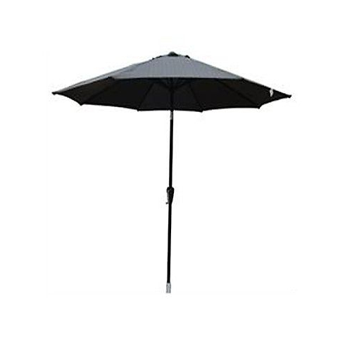 "Lagasse Market Umbrellas Regarding 2017 9"" Market Umbrella Aluminum Frame With Tilt And Crank Color: Black (View 13 of 25)"