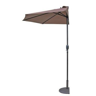 Lanai 9' Half Umbrella – Coffee – Island Umbrella, Brown (View 6 of 25)