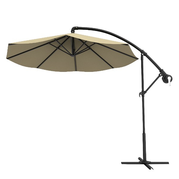 Latest Anna Cantilever Umbrellas With Round Offset Aluminum Cantilever Umbrella (View 20 of 25)