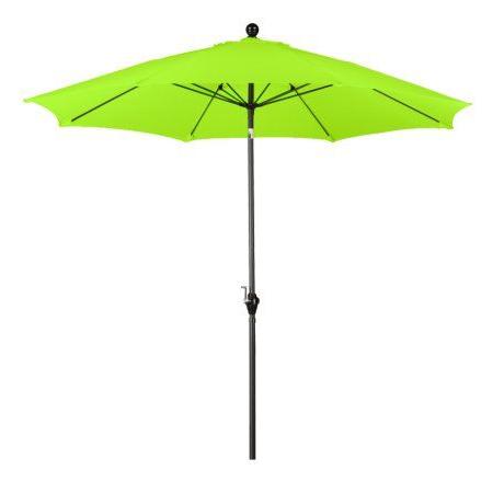 Latest Escada Designs Lime Green 9 Foot Polyester Push Button Tilt Umbrella Pertaining To Crowborough Market Umbrellas (View 12 of 25)