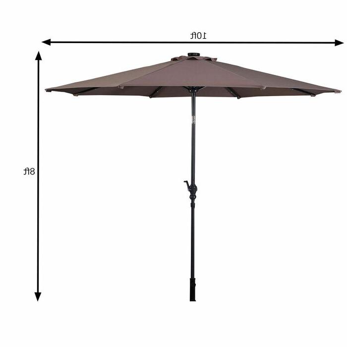 Latest Fairford Market Umbrellas With Regard To Fairford 10' Market Umbrella (View 13 of 25)