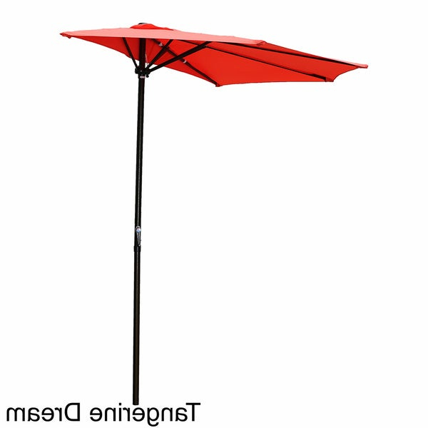 Latest Hyperion Market Umbrellas Throughout Buy Orange Patio Umbrellas Online At Overstock (View 9 of 25)