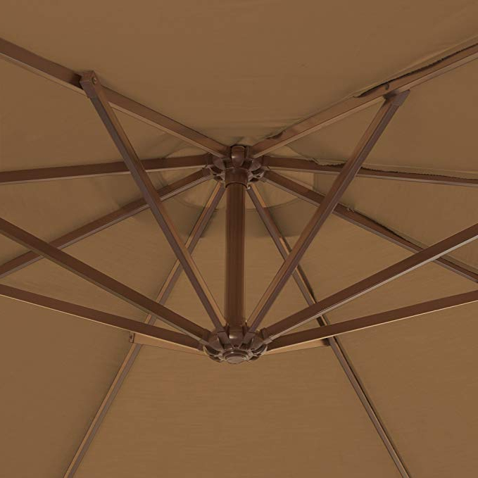 Latest Island Umbrella Nu6785 Victoria Octagon Cantilever With Valance In  Sunbrella Acrylic, 13', Stone For Lennie Cantilever Sunbrella Umbrellas (View 9 of 25)