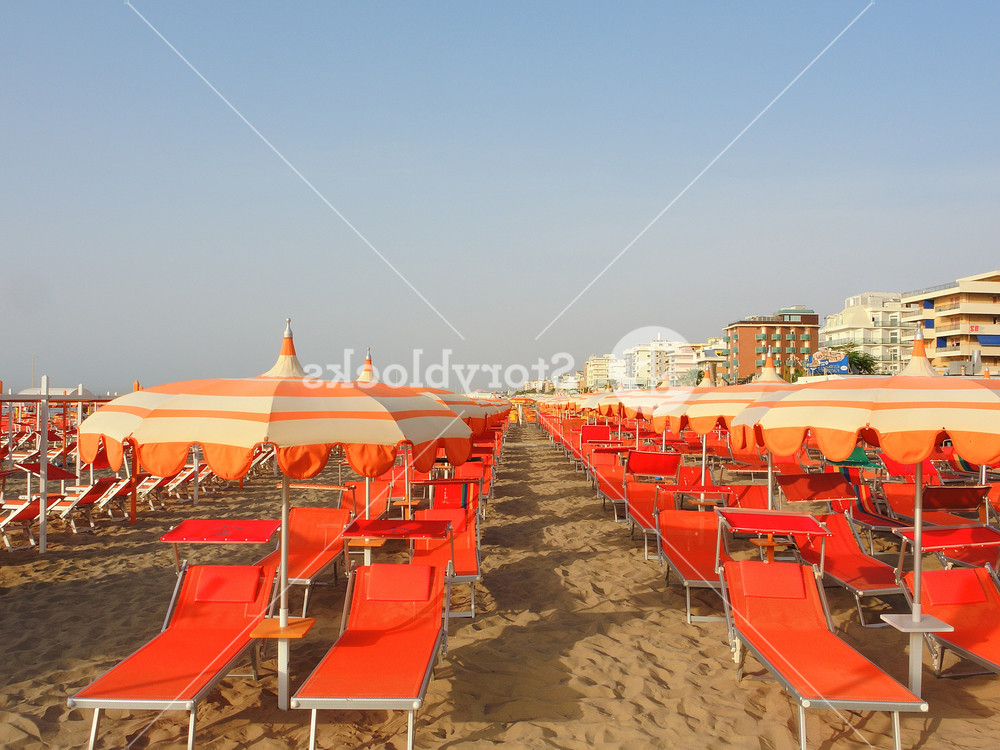 Latest Italian Beach Umbrellas Pertaining To Beach Umbrellas, Gazebos And Sun Beds At Italian Sandy Beaches (View 23 of 25)