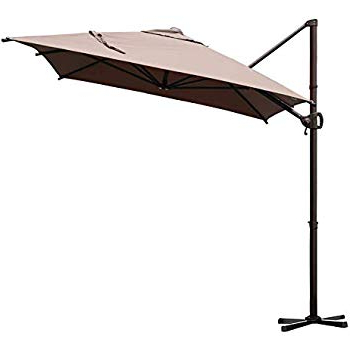 Latest Kedzie Outdoor Cantilever Umbrellas For Amazon : Abba Patio 11 Ft Offset Patio Umbrella With Crank Lift (View 10 of 25)