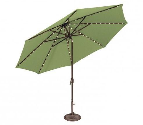 Latest Lanai Market Umbrellas With Regard To Lanai Pro 11' Octagon Starlight Auto Tilt (View 14 of 25)