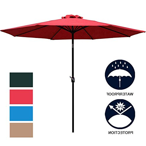Latest Leachville Market Umbrellas Intended For Market Umbrella 9 Ft: Amazon (View 12 of 25)