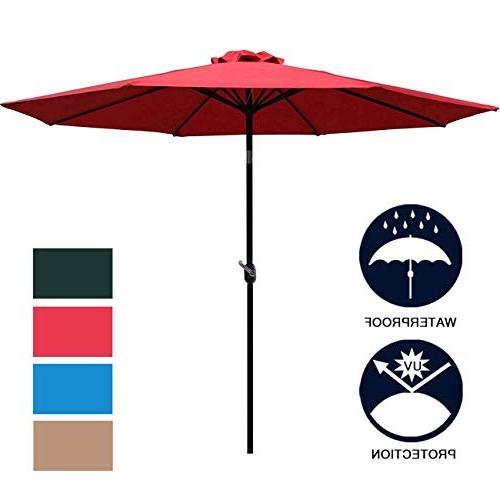 Latest Leachville Market Umbrellas Intended For Market Umbrella 9 Ft: Amazon (View 12 of 25)