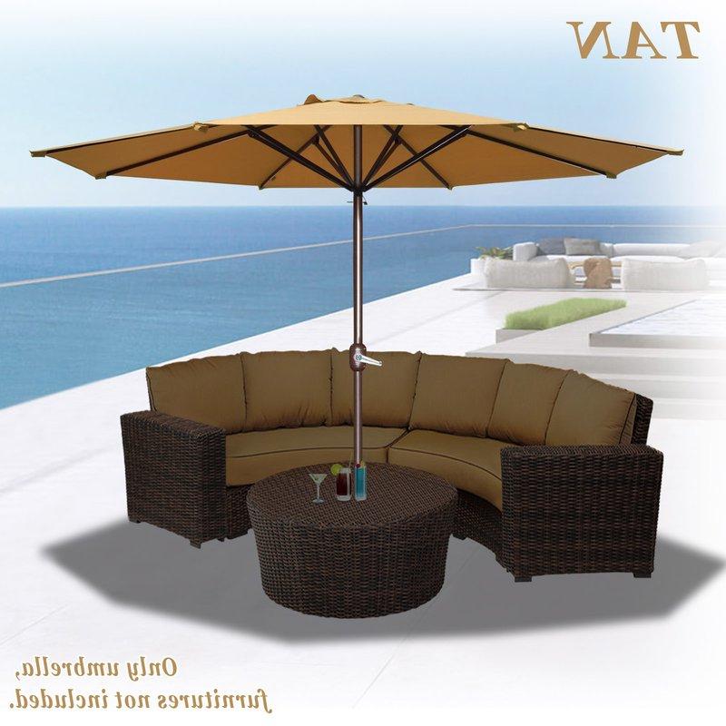 Latest Rosaura Octagonal Solid Outdoor Garden Parasol Patio Market Umbrella Regarding Solid Market Umbrellas (View 13 of 25)