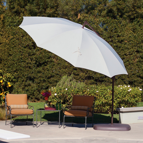 Latest Santorini 10' Round Rotating Cantilever Umbrella Intended For Cantilever Umbrellas (View 5 of 25)